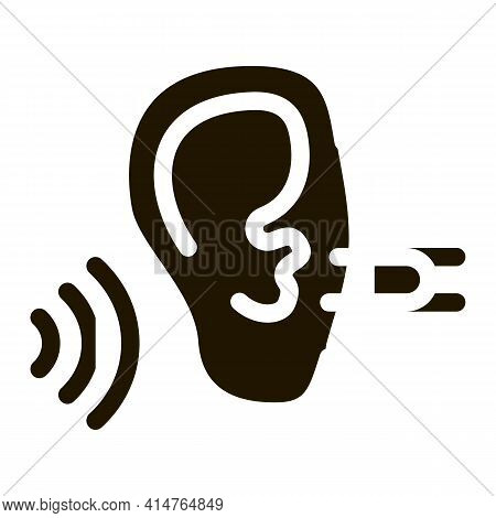 Perfect Hearing Glyph Icon Vector. Perfect Hearing Sign. Isolated Symbol Illustration