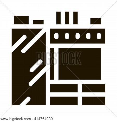 Kitchen Glyph Icon Vector. Kitchen Sign. Isolated Symbol Illustration