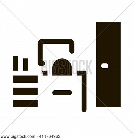 Workplace Rooms Glyph Icon Vector. Workplace Rooms Sign. Isolated Symbol Illustration