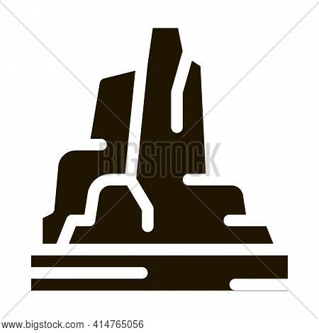 Mountain Skyscrapers Glyph Icon Vector. Mountain Skyscrapers Sign. Isolated Symbol Illustration