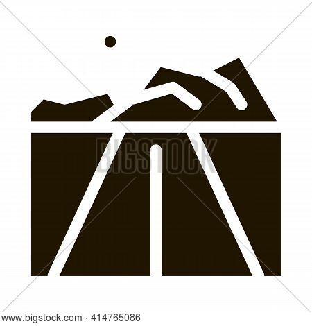 Iceberg Glyph Icon Vector. Iceberg Sign. Isolated Symbol Illustration