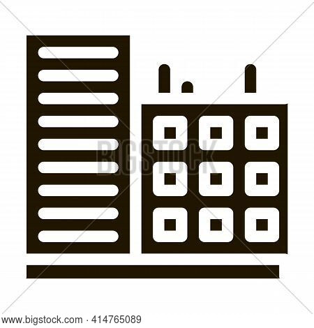 Multi-storey Building Glyph Icon Vector. Multi-storey Building Sign. Isolated Symbol Illustration