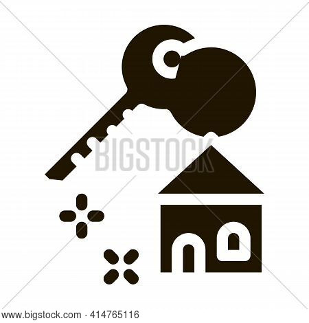 Winning House Glyph Icon Vector. Winning House Sign. Isolated Symbol Illustration