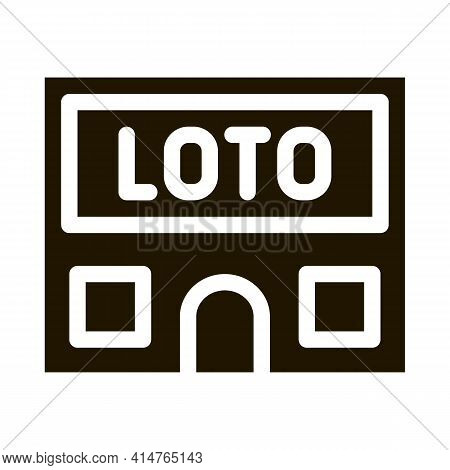 Lotto House Glyph Icon Vector. Lotto House Sign. Isolated Symbol Illustration