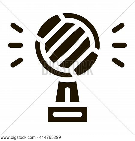 Champion Cup Glyph Icon Vector. Champion Cup Sign. Isolated Symbol Illustration