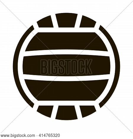 Volleyball Glyph Icon Vector. Volleyball Sign. Isolated Symbol Illustration