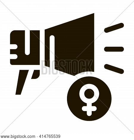Loudspeaker Glyph Icon Vector. Loudspeaker Sign. Isolated Symbol Illustration