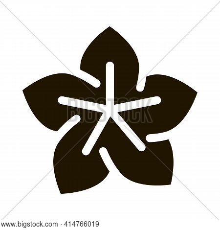 Lotus Flower Glyph Icon Vector. Lotus Flower Sign. Isolated Symbol Illustration
