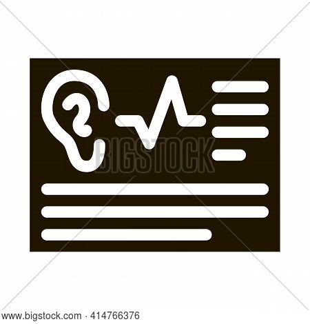 Article Hearing Glyph Icon Vector. Article Hearing Sign. Isolated Symbol Illustration