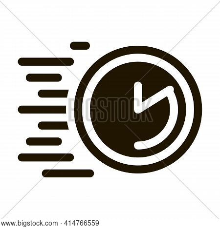 Time Expiration Glyph Icon Vector. Time Expiration Sign. Isolated Symbol Illustration