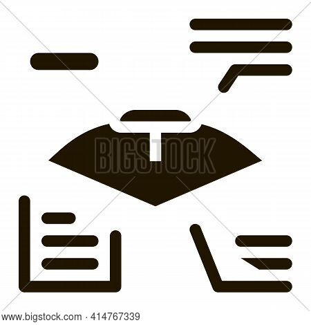Bow And Arrow Characteristic Icon Vector. Athlete Archery Equipment Characteristic Card Scheme Picto