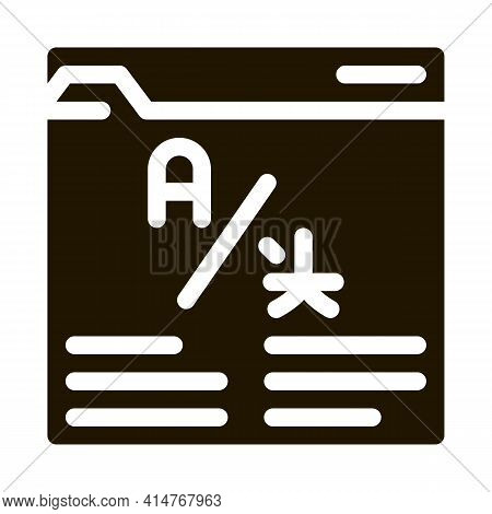 Online Web Site Translator Icon Vector. Internet Translator, Browser And Cyberspace For Translate Pi