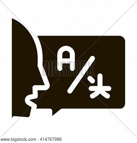 Human Interpreter Translator Icon Vector. Tourist Or Business Trip For Translator, Help For Communic
