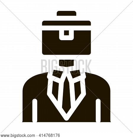 Businessman With Case Head Icon Vector. Sme Subject Matter Expert Businessman Human Wearing Suit Pic