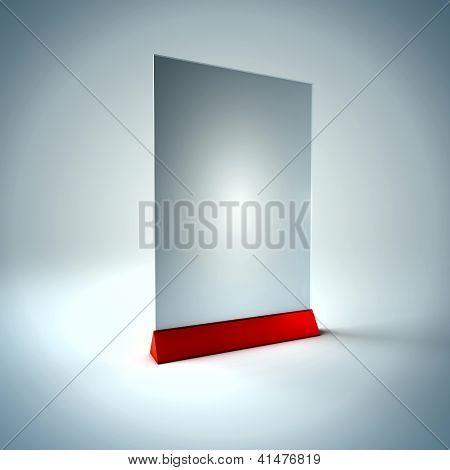 Blank Information Glass Holder
