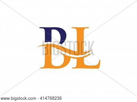 Initial Bl Letter Linked Logo Vector Template. Swoosh Letter Bl Logo Design. Bl Logo Design Vector