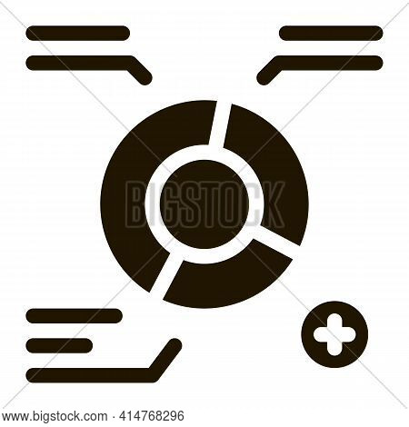 Good Working Employee Card Icon Vector. Statistician Report Worker With Growth Graphic, Approved Mar