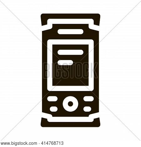 Topography Electronic Tool Icon Vector. Measuring Equipment For Research Landscape, Engineer Technol
