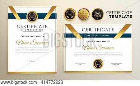 Stylish Certificate Template For Multipurpose Use Design