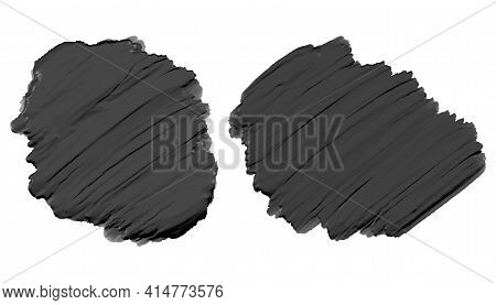 Black Thick Acrylic Watercolor Paint Texture Vector Template Design