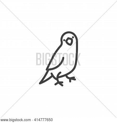 Parrot Pet Line Icon. Linear Style Sign For Mobile Concept And Web Design. Parrot Bird Outline Vecto