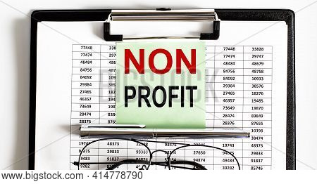 Non Profit Text Words Inscription On Sticker Note On Paper Chart