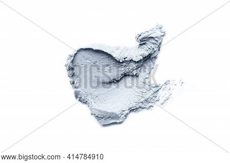 Smear Of Cosmetic Clay On A White Background.