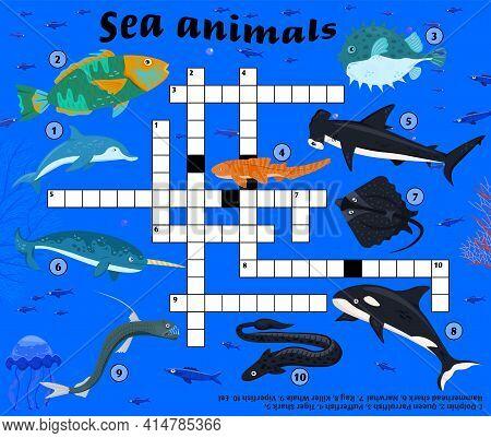 Sea Animals Crossword. Underwater Inhabitants. Threatened Species.