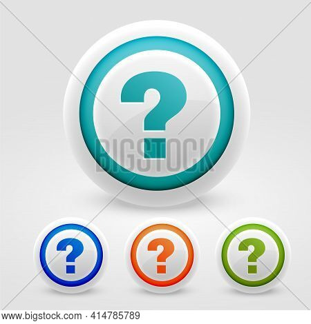 Question Mark Buttons For Help And Support Web Purpose