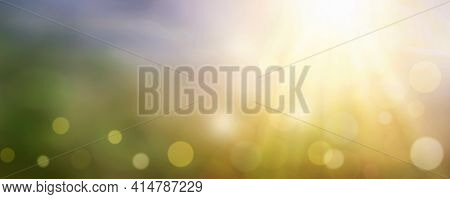 Blurred Nature Abstract Bokeh Background World, Yellow