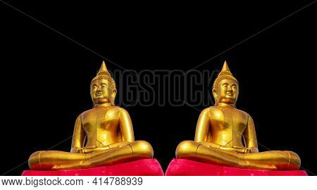 Budha Golden You From Nature Stone Ancient Ancient Times Separated From The Background. Natural Clip