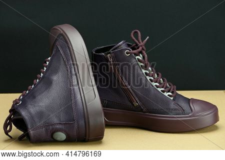 Fashionable Womens Or Childrens Shoes, Shoes Or Sneakers. Comfortable City Shoes For Children And Ad