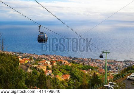 Cable Car From The City Of Funchal To The Monte Palace In Madeira, Portugal