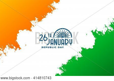 Happy Republic Day Of India 26th January Background Design