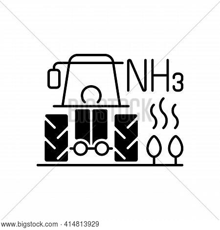 Farming Black Linear Icon. Agricultural Air Pollution Comes From Both Farm Equipment And Farming Its