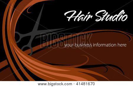 Hair studio abstract card