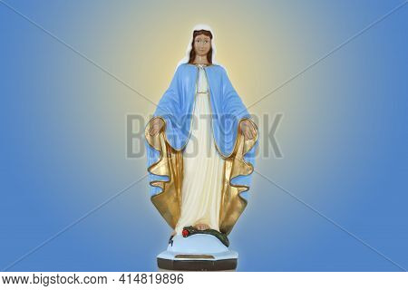 Statue Of The Image Of Our Lady Of Grace, Mother Of God In The Catholic Religion, Virgin Mary