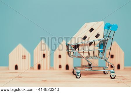 Buy Home Shopping Sale Wood House With Cart Or Shop New House Promotion Accommodation Mortgage And L