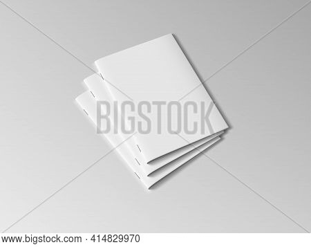 Three A4 Or A5 Clear Brochures With Shadow