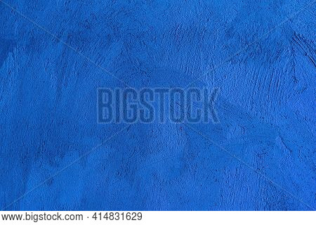 Blue Texture Background. Beautiful Abstract Grunge Decorative Navy Blue Dark Stucco Wall Background.