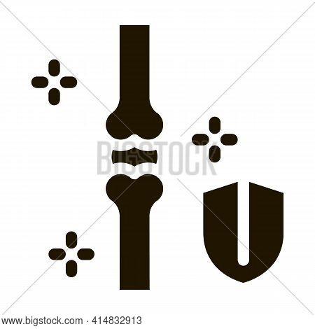 Bone Strengthening Glyph Icon Vector. Bone Strengthening Sign. Isolated Symbol Illustration