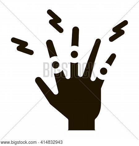 Arthritis Of Finger Joints Glyph Icon Vector. Arthritis Of Finger Joints Sign. Isolated Symbol Illus