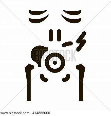 Back Lumbar Arthritis Glyph Icon Vector. Back Lumbar Arthritis Sign. Isolated Symbol Illustration