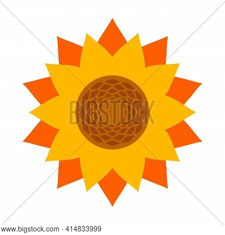 Sunflower Vector Icon.cartoon Vector Icon Isolated On White Background Sunflower.