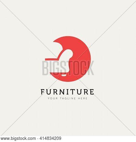 Furniture Sofa Minimalist Logo Template Vector Illustration Design. Chair, Seat, Couch Logo Template