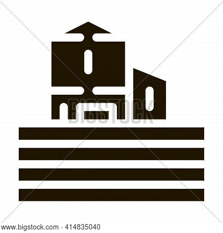 Farm With Land Glyph Icon Vector. Farm With Land Sign. Isolated Symbol Illustration