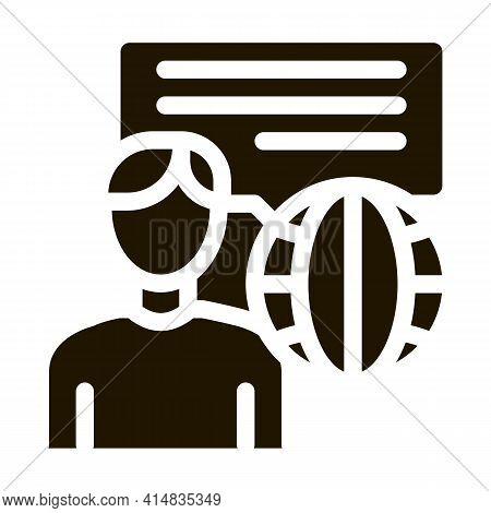 Travel Company Representative Glyph Icon Vector. Travel Company Representative Sign. Isolated Symbol