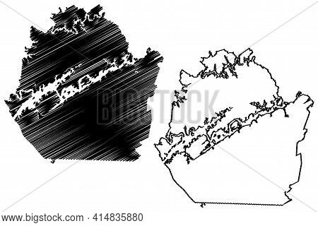 Union County, State Of Tennessee (u.s. County, United States Of America, Usa, U.s., Us) Map Vector I