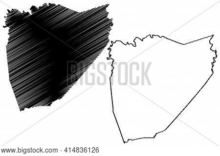 Van Buren County, State Of Tennessee (u.s. County, United States Of America, Usa, U.s., Us) Map Vect