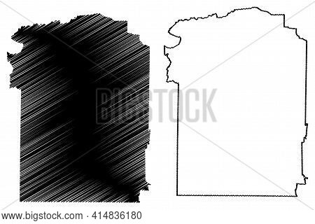 Wayne County, State Of Tennessee (u.s. County, United States Of America, Usa, U.s., Us) Map Vector I